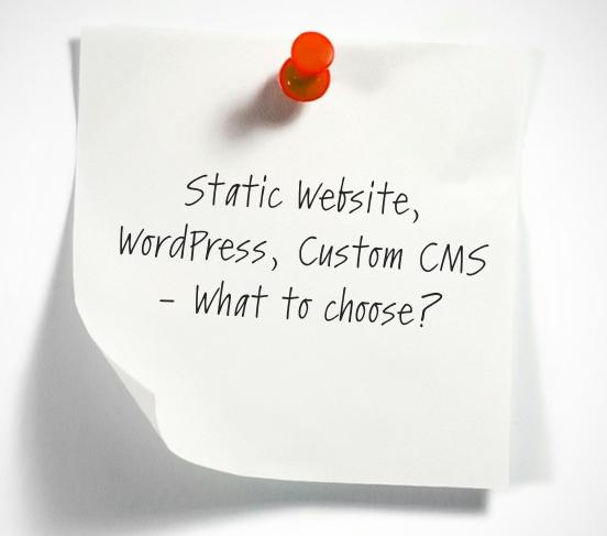 static vs wordpress vs custom