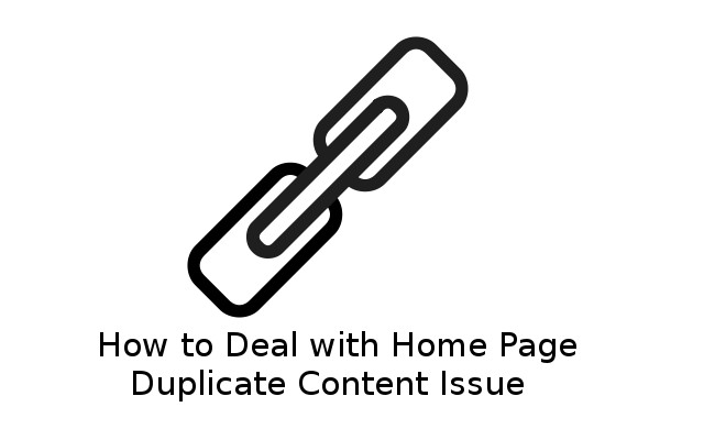 How to Deal with Home Page Duplicate Content Issue