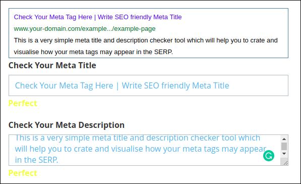 Meta Title Description Checker