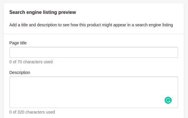 Shopify Meta Title & Description